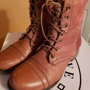 Tan Genuine Leather Trooper Boots